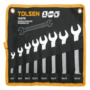 Tolsen 15076 8 Pieces Double Open End Spanners Set PK