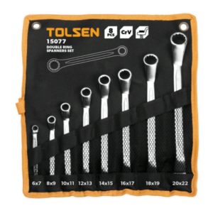 Tolsen 15077 8 Pieces Double Ring Spanner Set PK