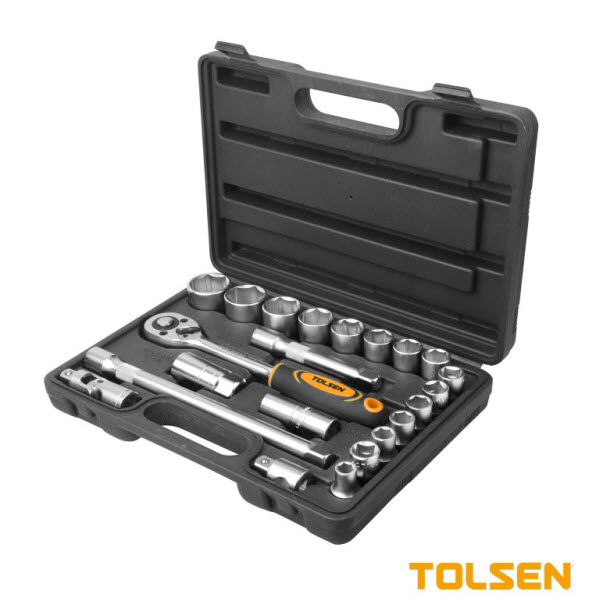 Tolsen 15139 22 Pieces 1.2″ Socket Set PK