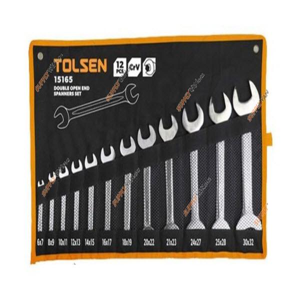 Tolsen 15165 12 Pieces Double Open End Spanners Set