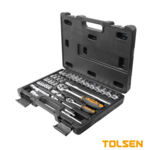 Tolsen 39 Pieces 14″ and 12″ Socket Set 11