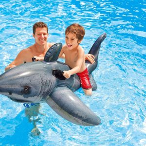 Intex Inflatable Grey White Shark Ride-On PK