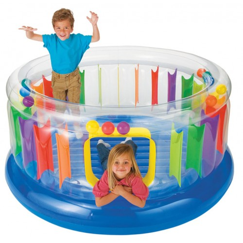 Intex Inflatable Jump-O-lene Transparent Ring Bouncer Telebrands PK
