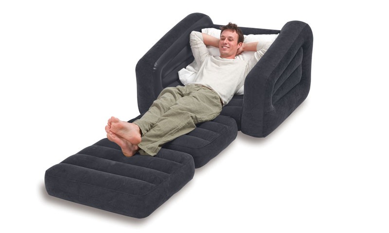 Intex Inflatable Pull Out Single Sofa Cum Bed 68565 Air Lounge