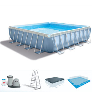 Intex Prism Frame Pool with filter Pump, Pool Cover & Ladder PK