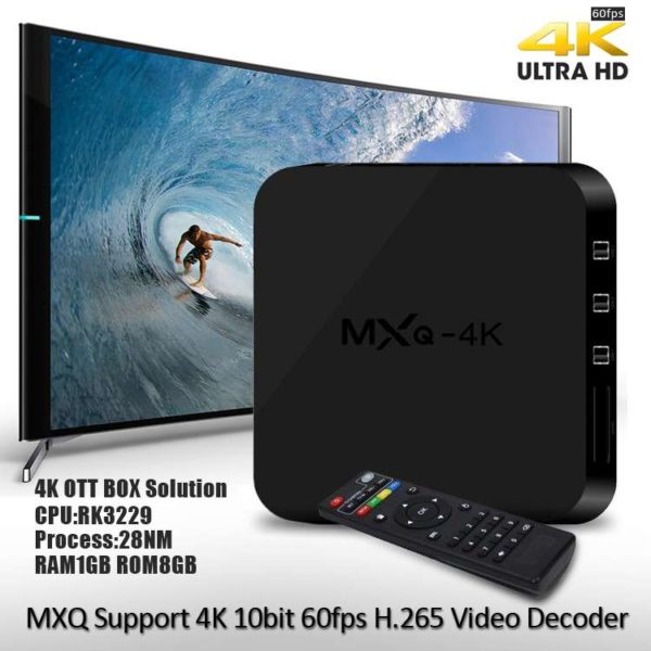 Android Smart TV BOX MXQ 4K WiFi