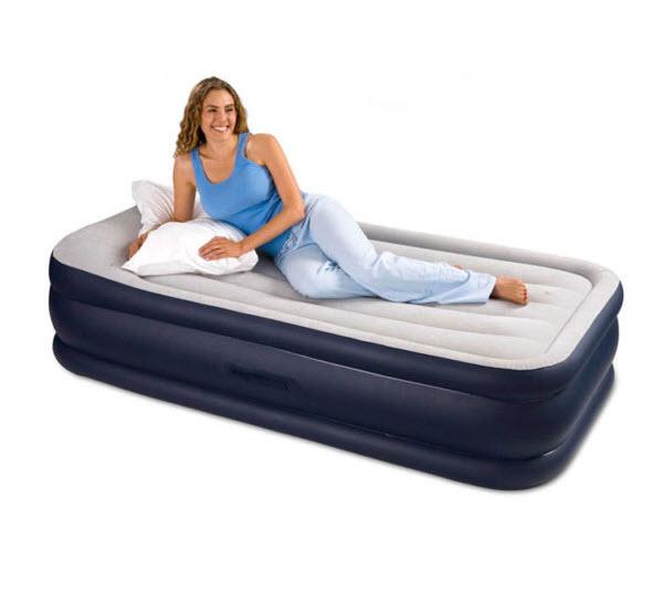 Intex Deluxe Air Mattress with Builtin Pump and Pillow Rest