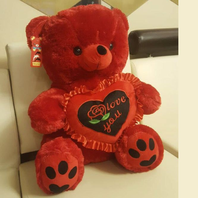 Radiant Red Teddy Bear 22 Inches Stuffed Toys In Pakistan