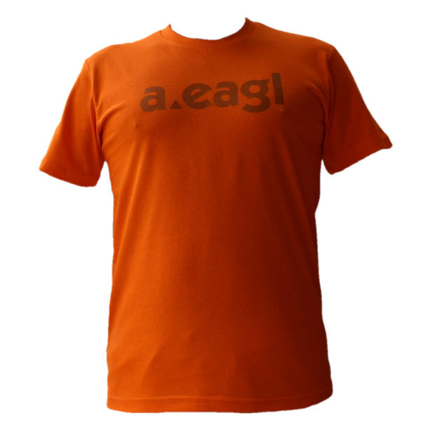 Crew Neck Orange T-Shirt