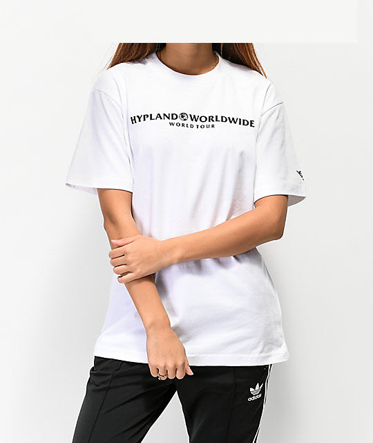 Crew Neck White Printed T-Shirt - Copy
