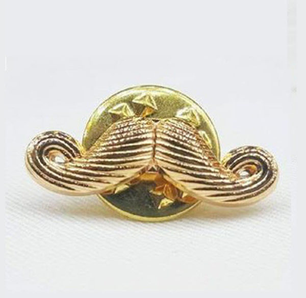 Moustache Lapel Pin 11
