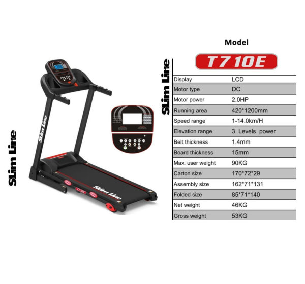 Slimline Fitness Treadmill T710E