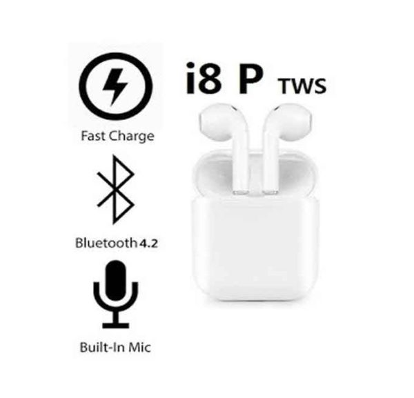 Twin true i8P Wireless Headset with Charging Box in PAK