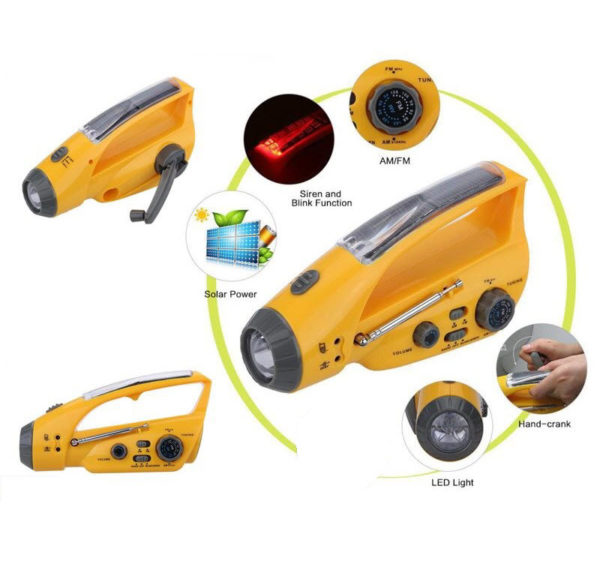 Waterproof Emergency Radio and Light