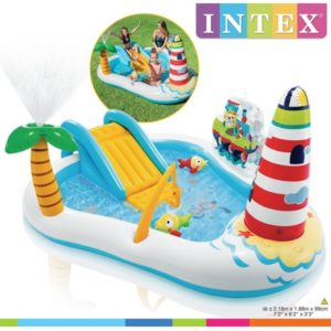 Intex Fishing Fun Play Center Inflatable Kiddie Pool 57162