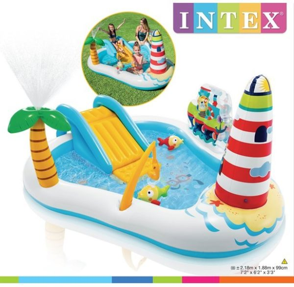 Intex Fishing Fun Play Center Inflatable Kiddie Pool 57162