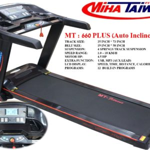 Pakistan Miha Taiwan MT-660 Plus Commerical Motorized Treadmill