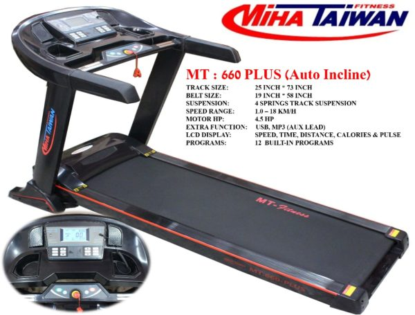 Pakistan Miha Taiwan MT-660 Plus Commerical Motorized Treadmill