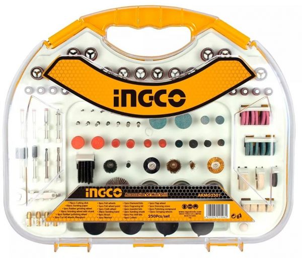 Ingco AKMG2501 Mini Drill Accessories 250 Pieces