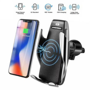 S6 Smart Sensor Car Wireless Charger - Silver Telebrands