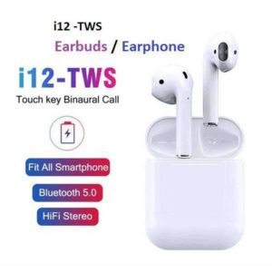 TWIN I12 Wireless Earphone V5.0 With Pouch in Pakistan
